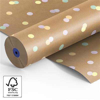 <h4>Papier: 60cm marron kr. Confetti  500 m.</h4>