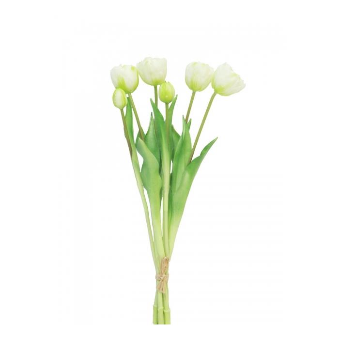<h4>SILK FLOWERS - TULIP BUNDLE SALLY CREAM 47CM 7PCS</h4>