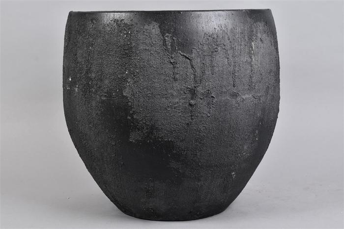 <h4>Bali Black Coal Pot 40x36cm</h4>