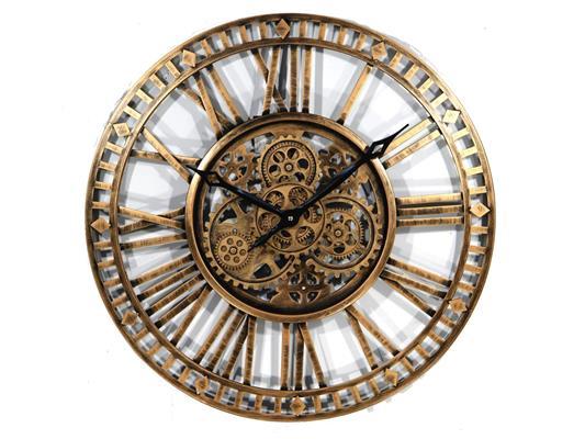 <h4>Clock Gear Open Ø90cm Ant.gold</h4>