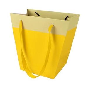 Bag Facile carton 19/12x11xH18cm yellow