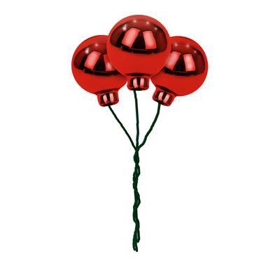<h4>Boules de Noël sur fil 40mm rouge brilliant 36pcs</h4>