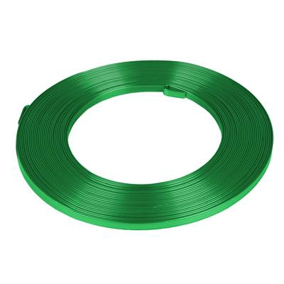 <h4>Aluminium wire flat - apple green 5mmx10m</h4>