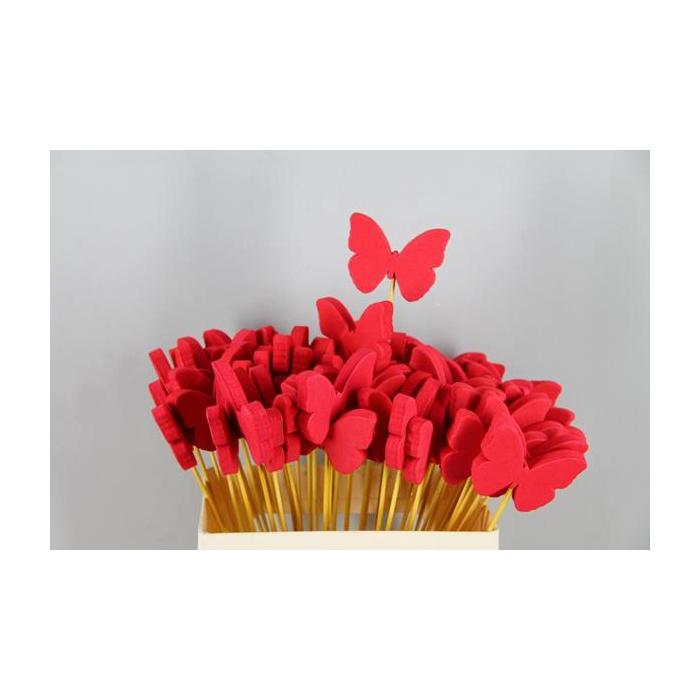 <h4>Stick Butterfly Foam Red</h4>