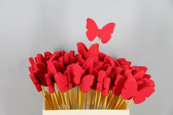 <h4>Stick Butterfly Foam Red</h4>