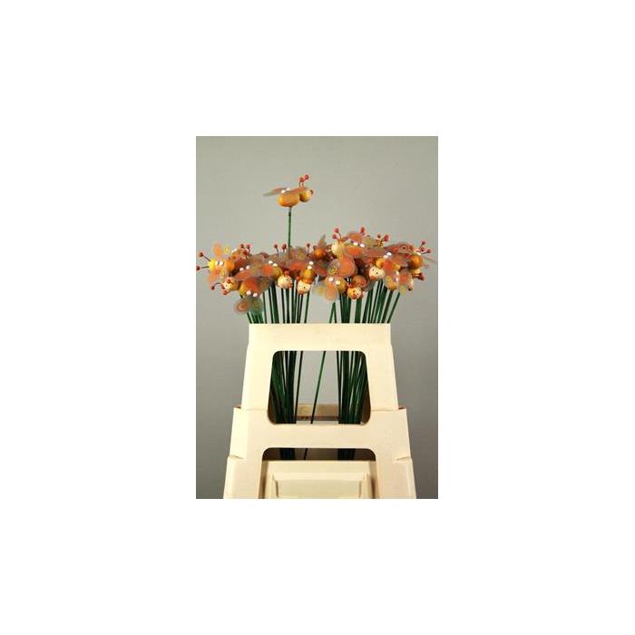 <h4>Stick Bee Wood Orange 6cm</h4>