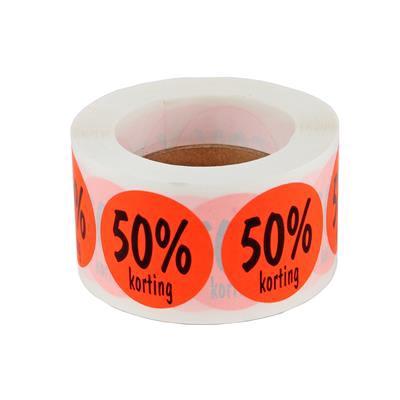 <h4>stickers ø 35mm  50% korting  ORANJE - rol 500st</h4>