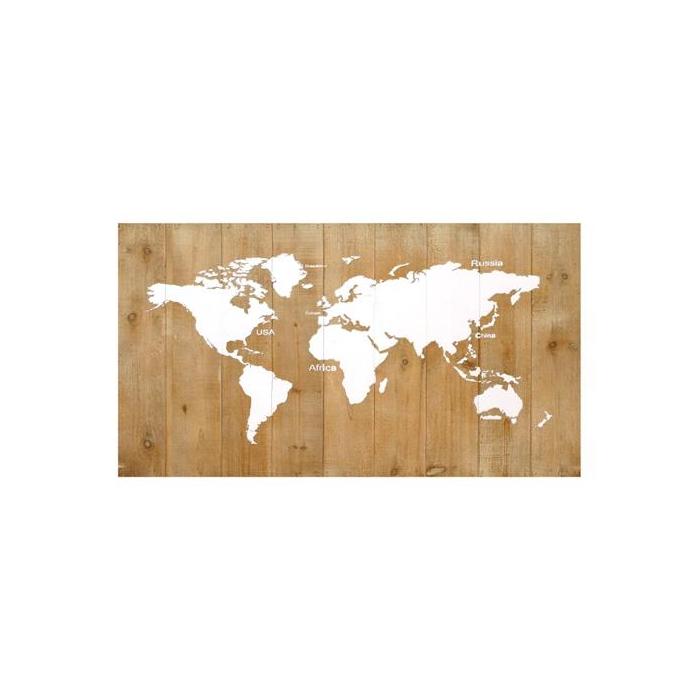 <h4>Map World Wood 1pc Mix 120x68</h4>