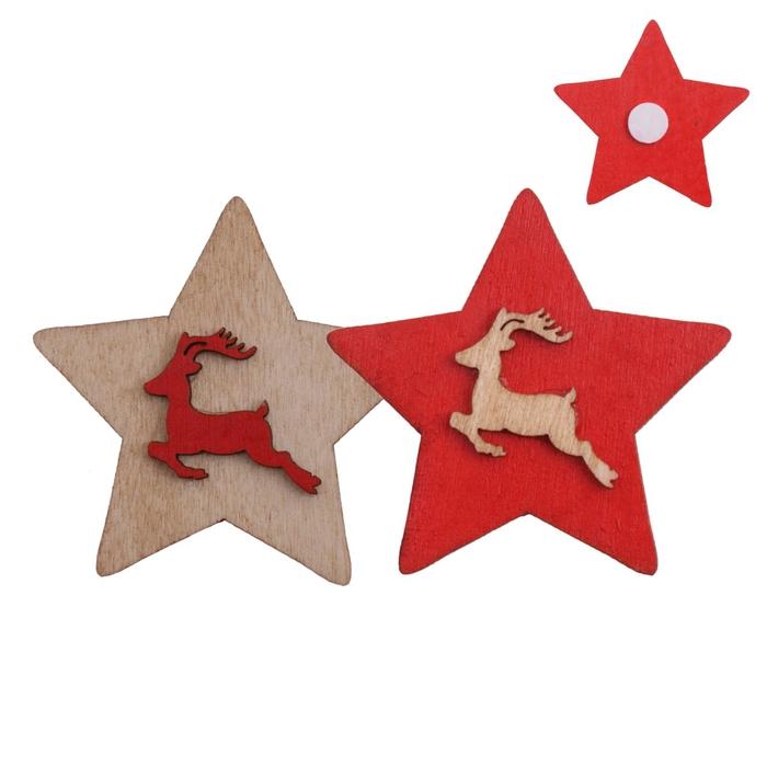 <h4>Christmas Sticker star deco 5cm ass.</h4>