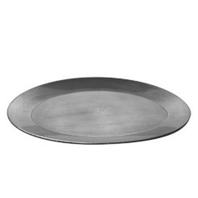 <h4>Bord ovaal plastic 39x29x2,5cm zilver</h4>