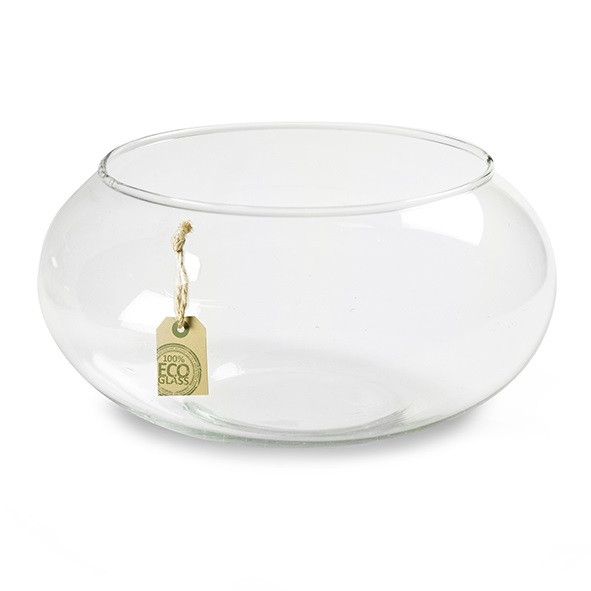 <h4>Glas Eco schaal bol d19*10cm</h4>