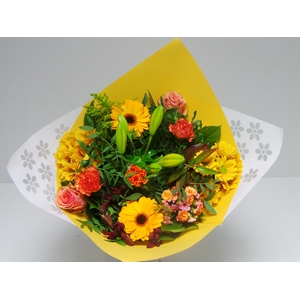 Bouquet Biedermeier Medium Orange