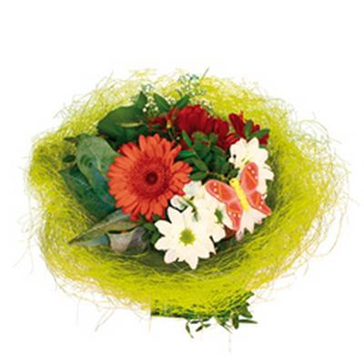 <h4>Bouquet holder sisal round loose Ø20cm l. green</h4>