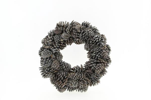 <h4>Wreath Pinecone 38cm Whitewash</h4>