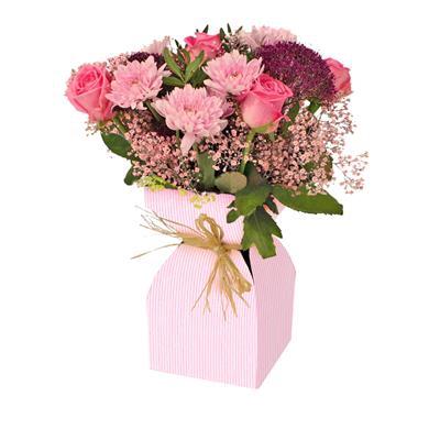 <h4>Vaas Basic kraft karton+plastic 11,5xH21cm roze</h4>