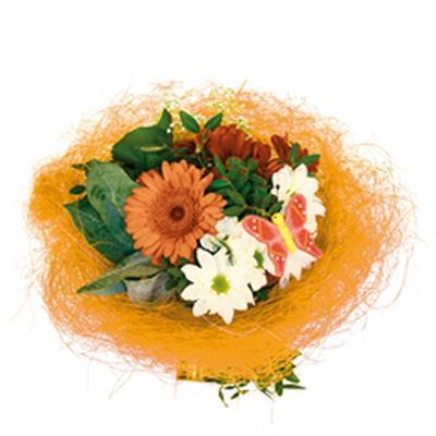 <h4>Bouquet holder sisal round loose Ø25cm orange</h4>