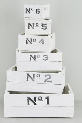 <h4>Box Numbers White (set 6pc)</h4>