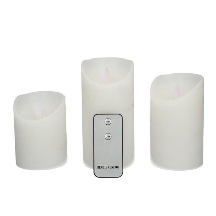 <h4>Candle Wax S/3 d7.5*10-15cm (batt.not incl.)</h4>