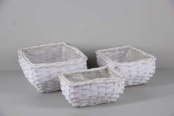 <h4>Basket Willow S/3 34x26cm</h4>