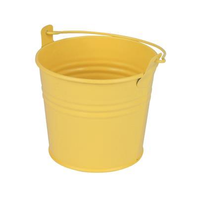 <h4>Bucket Sevilla zinc Ø10,3xH8,5cm - ES9 yellow matt</h4>