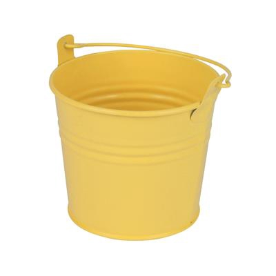 <h4>Seau Sevilla Zinc Ø10,3xH8,5cm - ES9 jaune mat</h4>