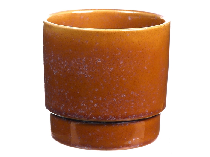 <h4>DF540262947 - Pot Avelon d13.8xh12.7 ochre</h4>