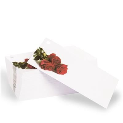 <h4>Bloemkaartje Roos wit - verpakt 100st</h4>