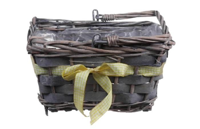 <h4>DF660120200 - Basket Rentz 22x15x13 yellow ribbon</h4>