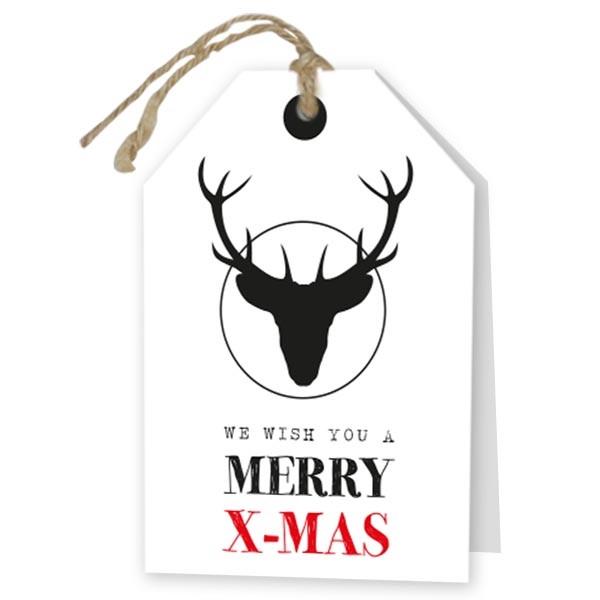 <h4>Kerst Kaart 17*12cm x6 Merry X-Mas</h4>