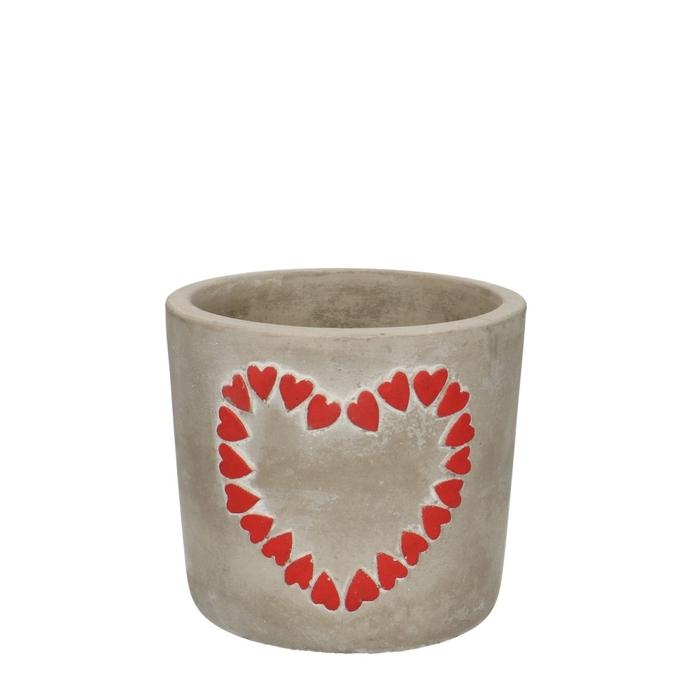 <h4>Liefde Pot Hearts d10.5*9.5cm</h4>