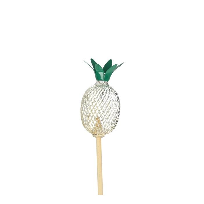 <h4>Bijsteker 50cm Ananas metaal 7cm</h4>