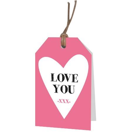 <h4>Labels Displ.Card GB Love u 5*8cm x12</h4>