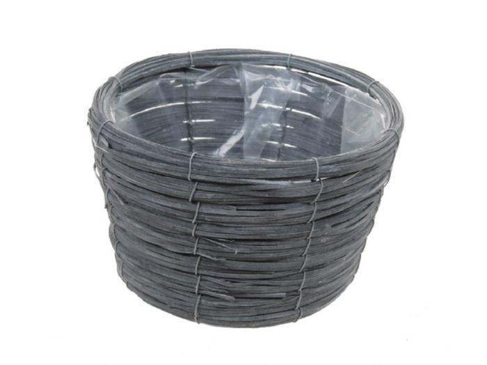 <h4>DF470601900 - Basket Paia d21xh14 grey</h4>
