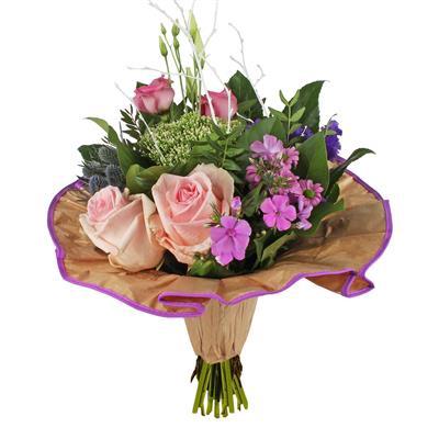 <h4>Bouquet cover Softline kraft Ø32cm  lilac</h4>