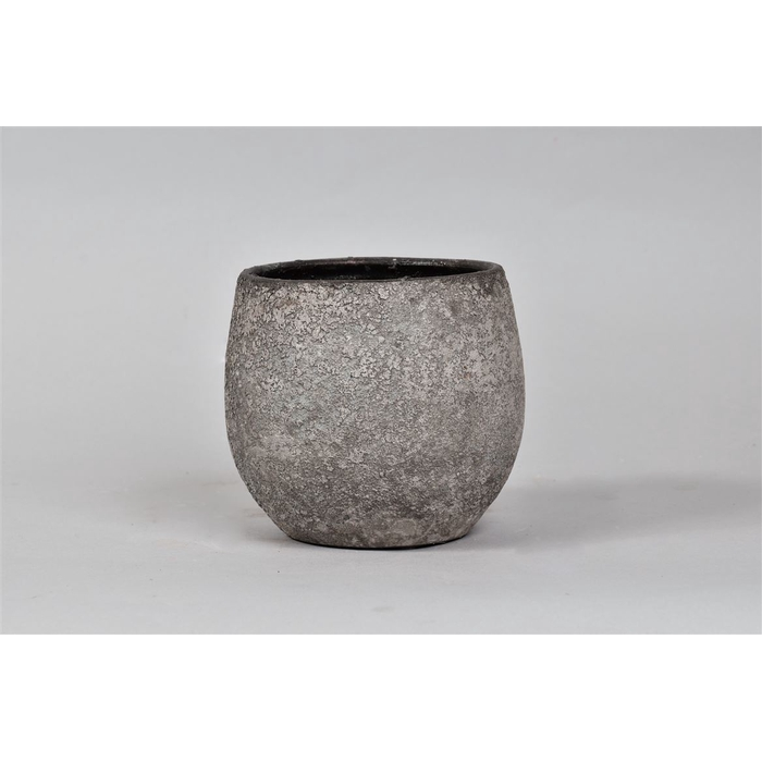 <h4>Bali Indonesian Grey Pot 16x14cm</h4>