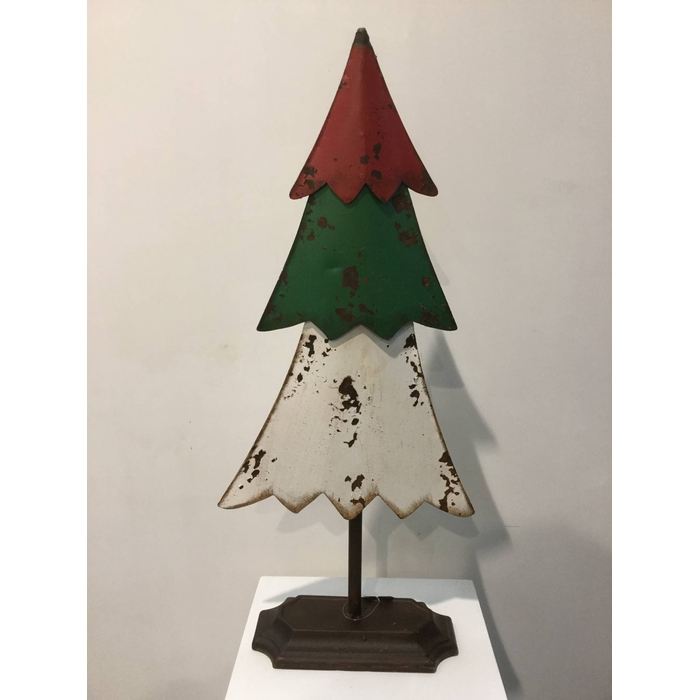 <h4>XMAS TREE RED/GREEN/WHITE 57CM OASIS-DECO</h4>