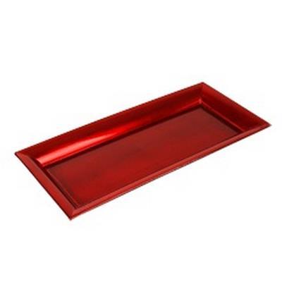 <h4>Assiette plate carrée plastic 36x17x2,5cm rouge</h4>