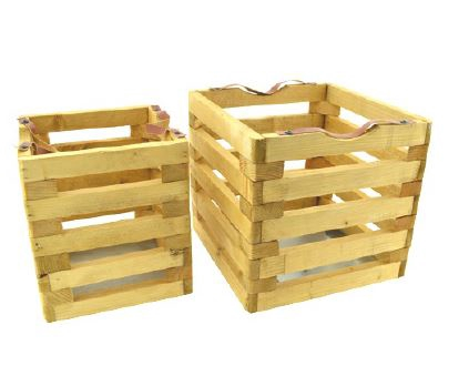 <h4>DF883824000 - S/2 Wooden crate 26cm</h4>