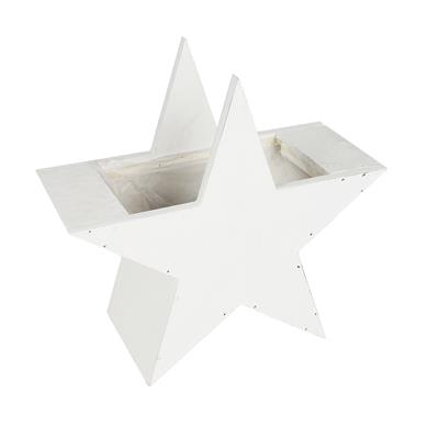 <h4>Wooden Star with pot white 23x21,5x10cm</h4>