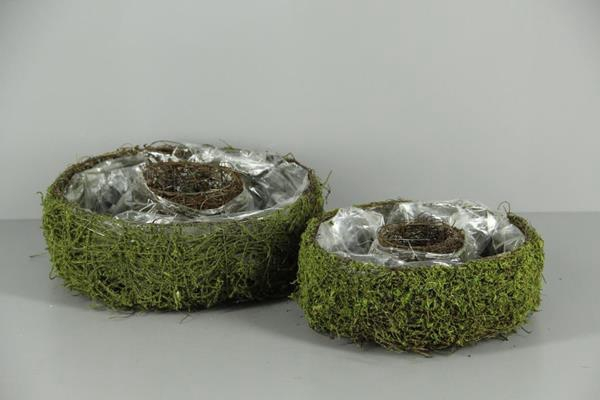 <h4>Planter Moss Basket S/2</h4>