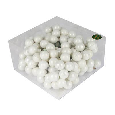 <h4>Boules de Noël sur fil 25mm blanc brilliant 48 tou</h4>