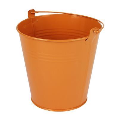 <h4>Bucket Sevilla zinc Ø15,5xH14,8cm ES14 / 15 orange</h4>