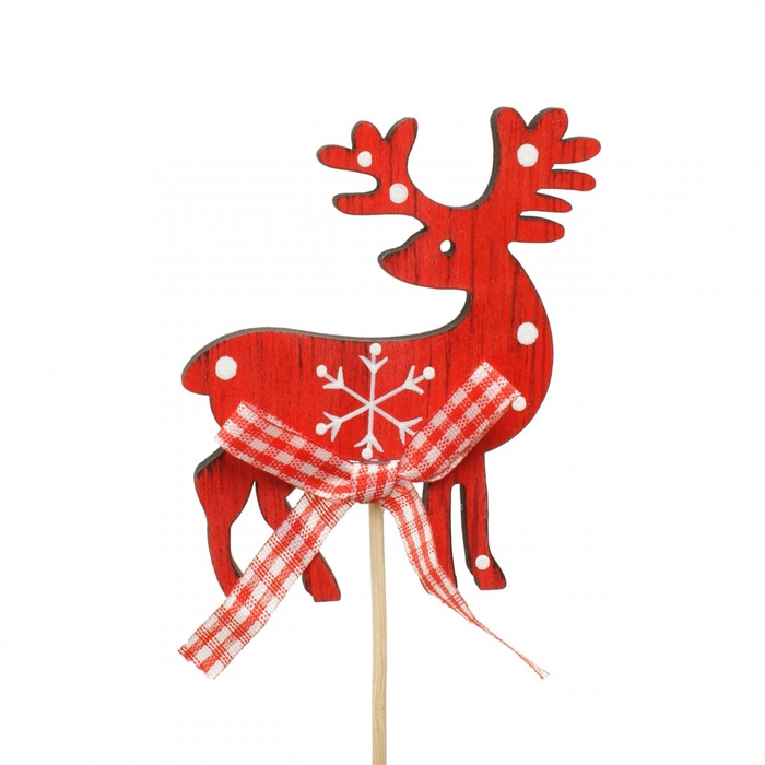 <h4>Christmas sticks 10cm Reindeer wood 8cm</h4>