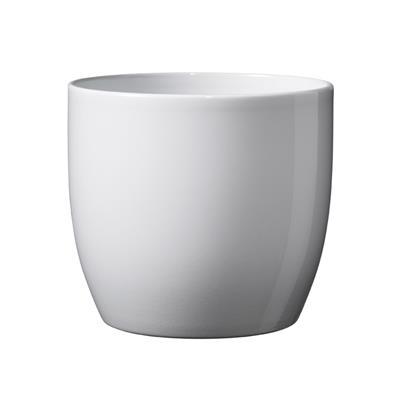<h4>Pot Basel Céramique Ø13xH12cm blanc brilliant</h4>