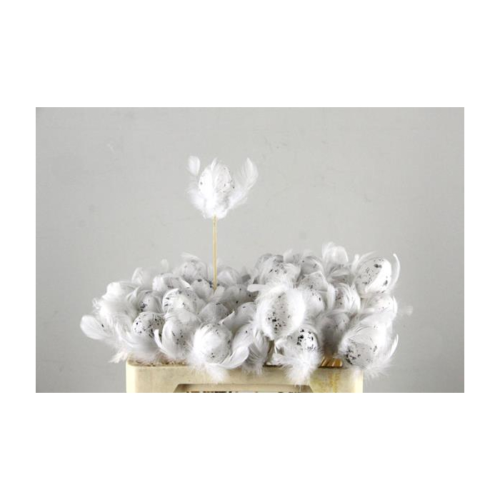 <h4>Stick Egg+feather White</h4>