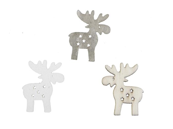 <h4>Kerst Rendier hout 3cm 3ass x60</h4>
