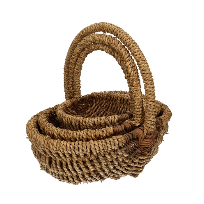<h4>Baskets Rope oval S/3 d36*29cm</h4>