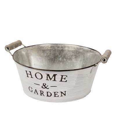 <h4>Bol en zinc pour la maison et le jardin Ø22xH9cm</h4>