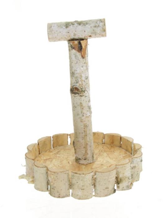 <h4>DF883492500 - Tray wood+handle d24cm</h4>