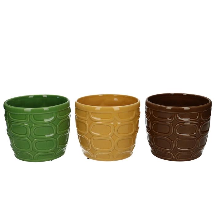 <h4>Ceramics Circles pot d13*11cm</h4>
